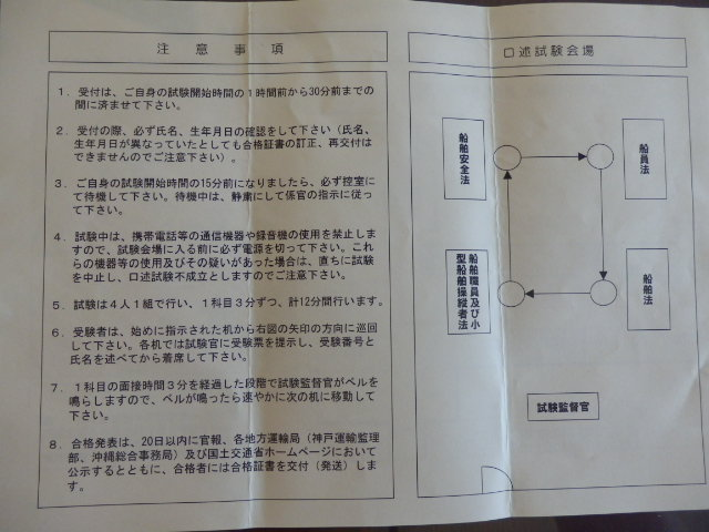 海事代理士口述試験の注意事項