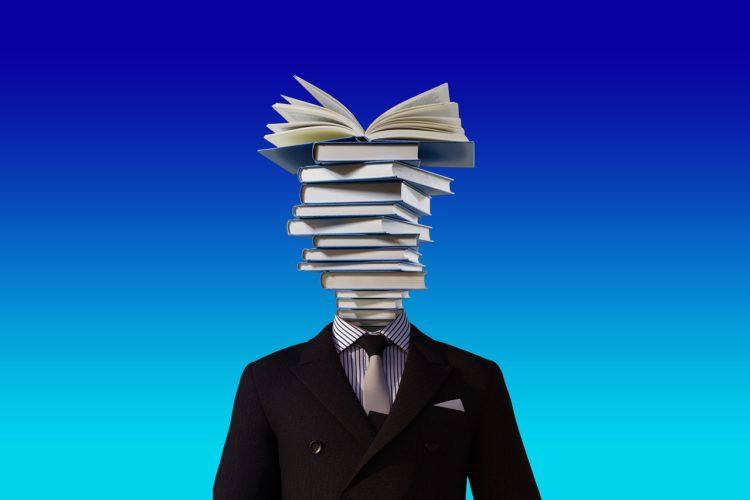 本の頭の人