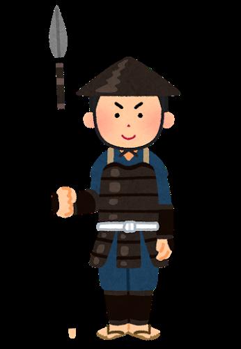 日本の昔の兵士