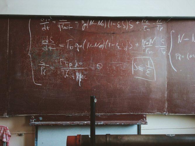 数式の黒板