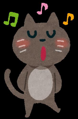 歌うたう猫の絵