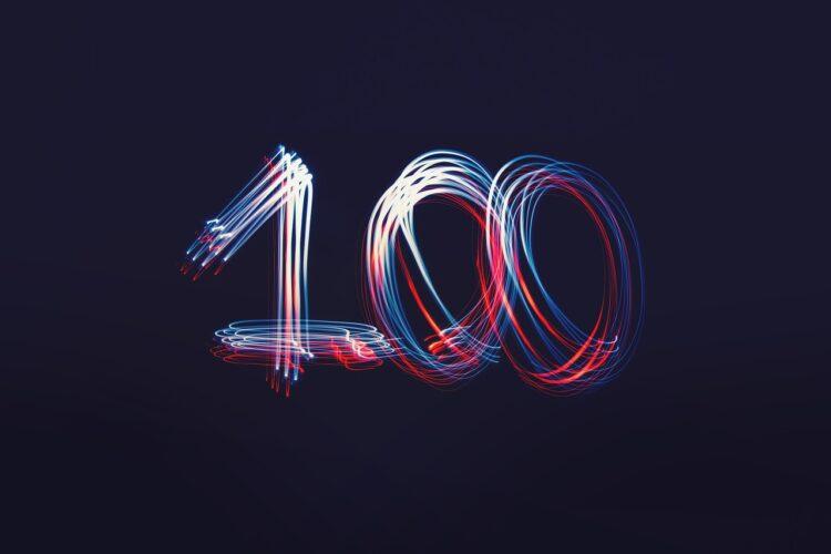 100の文字