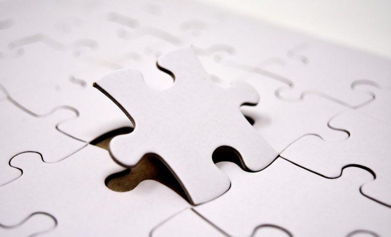 パズルはめる写真
