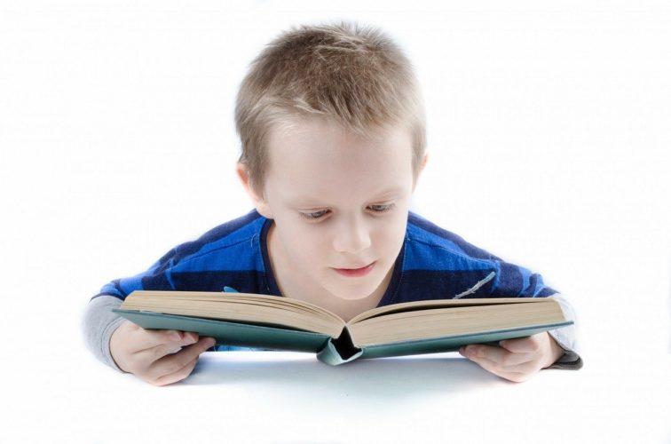 本を読む少年