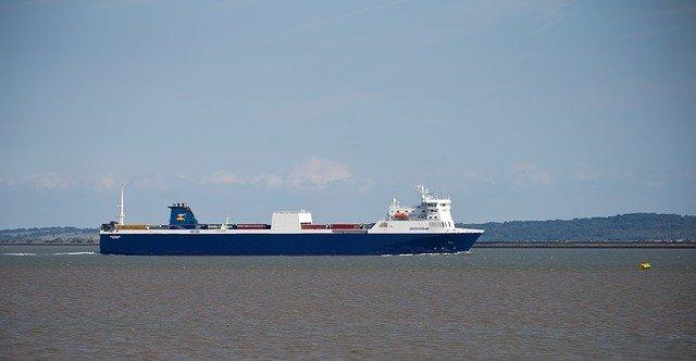 コンテナ船の写真