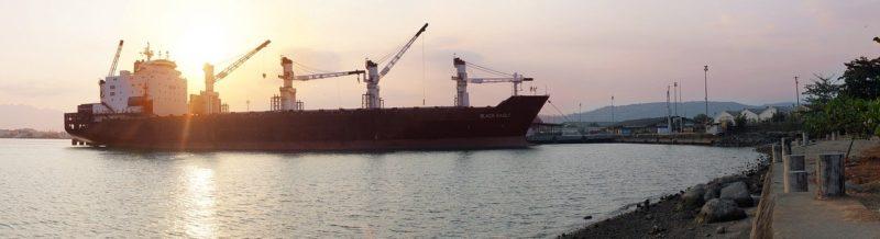 大きなクレーンをもつ船の写真